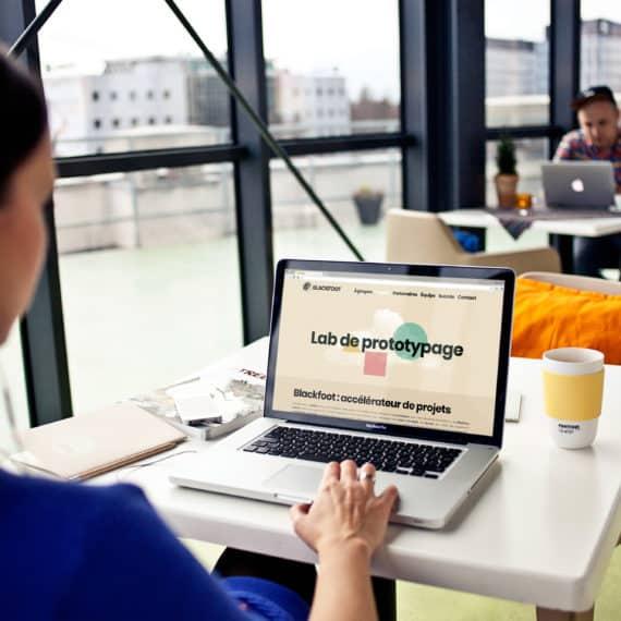 BLACKFOOT – Lab de prototypage – réalisation de l'univers visuel du site internet